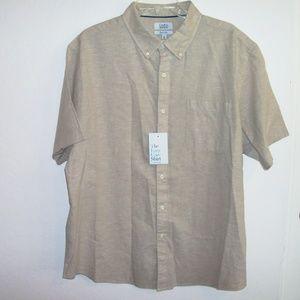 Croft & Barrow linen blend shirt XL or M (#EV672)